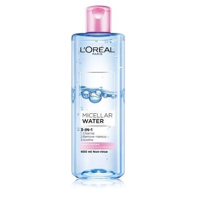 【LOREAL Paris 巴黎萊雅】三合一卸妝潔顏水 保濕型400ml【/效期201903淨妍美肌】