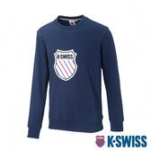 K-SWISS Court Sweaters圓領長袖上衣-男-深藍