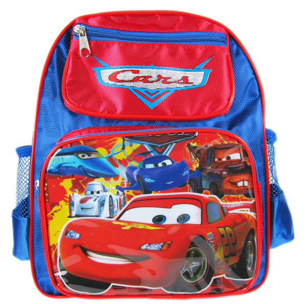 【卡漫城】 Cars 書包 前有小筆袋 Mcqueen 閃電麥昆 後背包 書包 30 x 26 cm 2 7 0 元