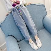 女童夏季牛仔褲新款韓版兒童時尚春夏裝薄款短褲洋裝休閒褲子