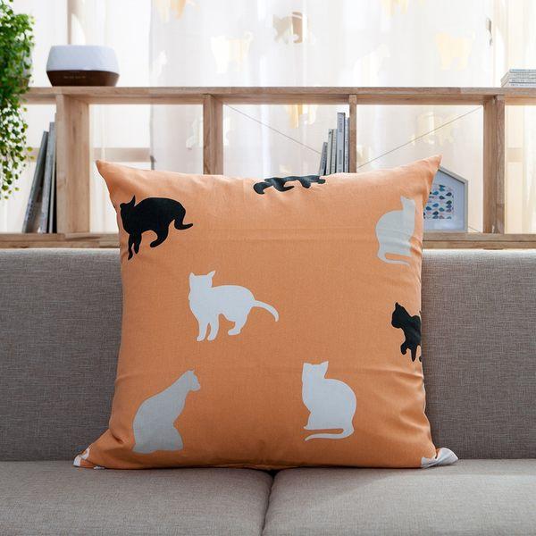 優雅貓抱枕-生活工場