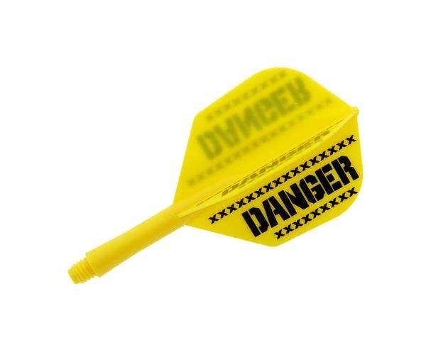 【Ptera Factory】Shaft一體型Flight Seamless Shape Short DANGER Yellow 鏢翼 DARTS