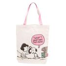 CR14045【日本進口正版】史努比 Snoopy 帆布 肩揹提袋 手提袋 肩背包 PEANUTS - 140454