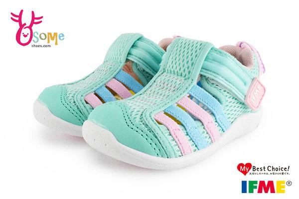 日本IFME水涼鞋 小童鞋 機能運動鞋 馬卡龍綠 N7657◆OSOME奧森童鞋