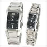 【萬年鐘錶】SIGMA日系 黑時尚對錶 5812M-5812L-1