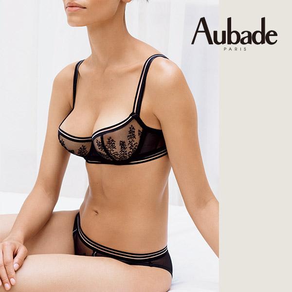 Aubade朝露S-L隱形刺繡丁褲(黑)PC