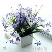 清新蘭花小盆栽 假花仿真花藝套裝擺設 客廳臥室家居裝飾品花擺件 韓語空間
