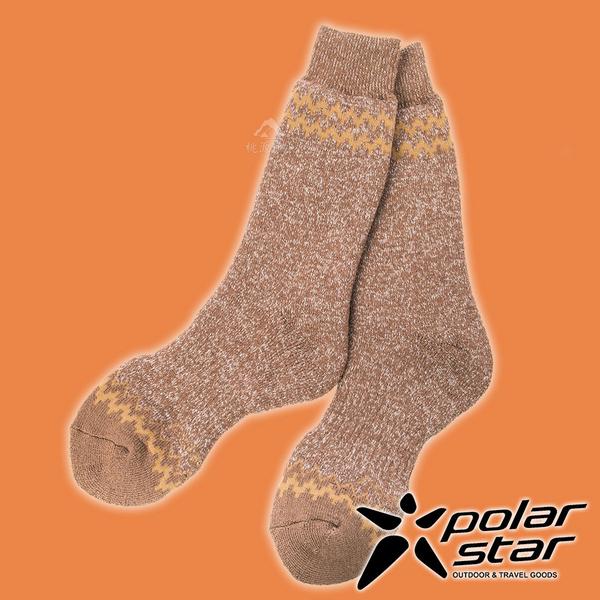 【PolarStar】羊毛保暖雪襪『棕色』P19609 露營.戶外.登山.羊毛襪.保暖襪.彈性襪.休閒襪.長筒襪.襪子