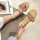 一鞋兩穿涼鞋女仙女風軟妹沙灘鞋女百搭chic平底涼拖 俏女孩