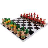 超萌可愛卡通國際象棋木制玩具寶寶喜愛智力游戲3歲