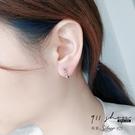 Lilac.925純銀鎖鏈圈圈穿針式耳環【s367】911 SHOP