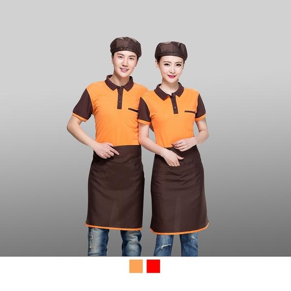 晶輝專業團體制服CH199*超人氣餐廳飯店工作服火鍋店牛排配色網眼短袖POLO衫