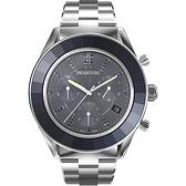 SWAROVSKI施華洛世奇 Octea Lux Chrono手錶 5610481-冰川藍