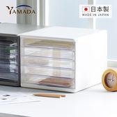 【日本山田YAMADA】日製桌上型五層A4文件抽屜櫃-5低抽(文書 辦公 儲物 整理 儲納 儲物 塑膠 日系)