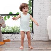 桃園百貨 寶寶純棉打底背心嬰兒夏季款吊帶夏裝