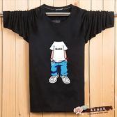 秋青少年長袖T恤運動上衣加肥加大尺碼寬鬆打底 『尚美潮流閣』