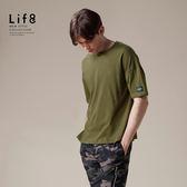 Casual 輕涼純棉 多色五分袖圓領T-軍綠色【03868】