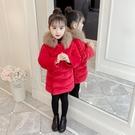 女童拜年服 女童冬裝棉襖新年裝喜慶女拜年服兒童加厚外套棉衣【免運】
