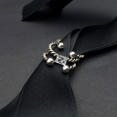 戒指 925純銀鑲鑽(三件組)-大方優雅生日情人節禮物女開口戒73ic47【時尚巴黎】