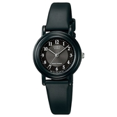【CASIO】 超薄經典優雅指針錶-黑x數字銀圈(LQ-139AMV-1B3)