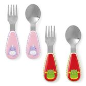 美國SKIP HOP 可愛動物園餐具叉及匙/叉匙組 (2款可選)
