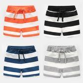 男童條紋短褲子中褲2018夏裝夏季新款童裝寶寶兒童女童小童U8567 挪威森林