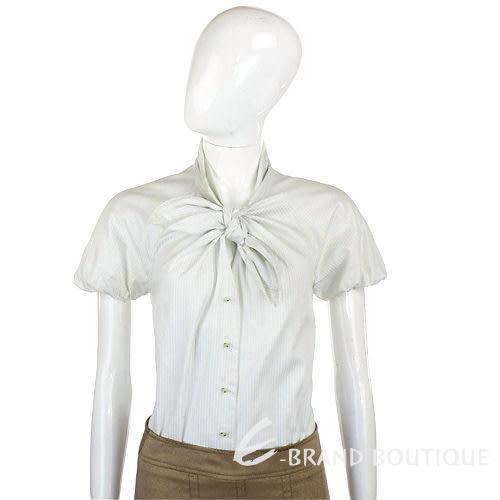 KENZO 淡綠/白色橫條圖紋綁結襯衫 0910239-20