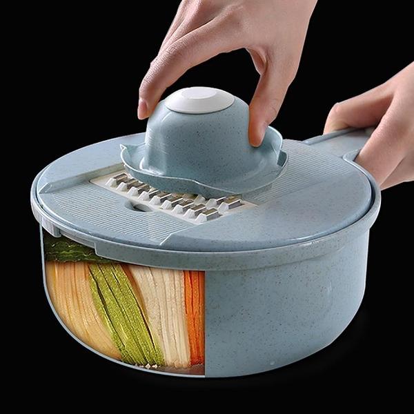 切菜機 廚房神器馬鈴薯絲切絲器家用刨絲器水果切片多功能插絲擦絲切菜神器【幸福小屋】