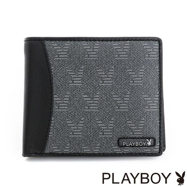 PLAYBOY- 零錢袋短夾 Coolplay系列-百搭灰
