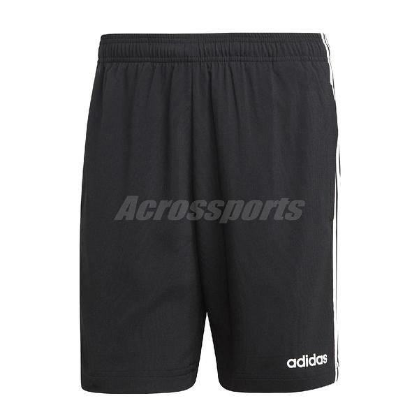 adidas 短褲 Essential 3Stripes Chelsea 黑 白 男款 運動褲 足球 【ACS】 DQ3073