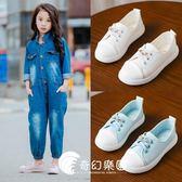 新款兒童休閑板鞋韓版女童運動鞋童鞋中小童學生-奇幻樂園
