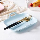 長方形盤子雙耳陶瓷烤盤焗飯盤家用