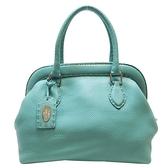 FENDI 蒂芬妮綠牛皮手提包 Selleria Doctors Bag Mini 【二手名牌BRAND OFF】