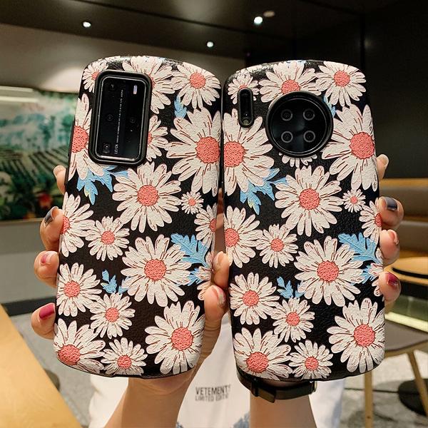 蘋果 iPhone11 Pro Max XS XR XS MAX iX i8+ i7+ 雛菊皮紋殼 手機殼 全包邊 保護殼