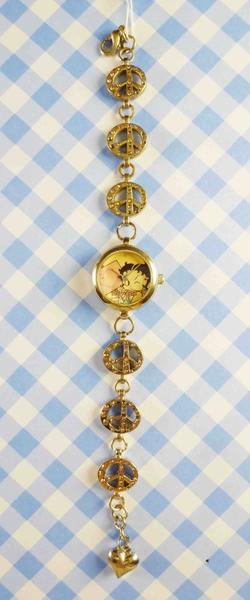【震撼精品百貨】Betty Boop_貝蒂~造型鍊錶-粉愛心
