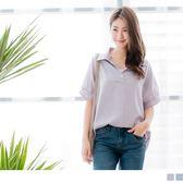 OrangeBear《AB7320》細直條紋開襟小釦不易皺柔軟面襯衫--適 XL~6L