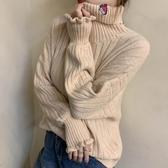 ~~~~冬季毛衣女高領寬鬆外穿慵懶風套頭加厚針織衫 雅楓居