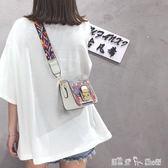 夏季小包包女新款潮韓版百搭斜背包寬帶單肩小方包ins超火包 潔思米