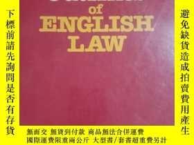 二手書博民逛書店OUTLINES罕見OF ENGLISH LAWY16149 看圖 看圖 出版1987