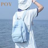 牛仔包POY原創水洗牛仔後背包女2020新款書包高中大學生韓版校園背包