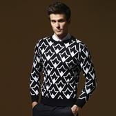 長袖針織衫-英倫風幾何造型男針織毛衣73ik49【時尚巴黎】