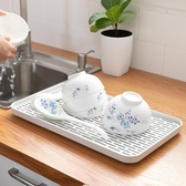 創意雙層塑料瀝水托盤家用長方形水果盤水杯客廳杯子茶盤 免運快速出貨