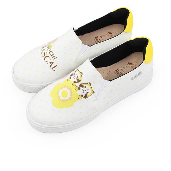 Paidal x Rascal小小浣熊水玉點點花朵厚底休閒鞋
