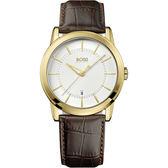 Hugo Boss 紳士家德式復刻腕錶-咖