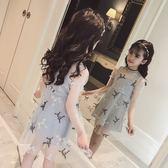 兒童女童夏季連衣裙2018新款童裝12中大童洋氣正韓網紗公主紗裙子