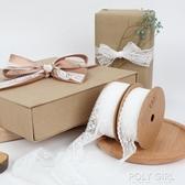 進口絲帶鮮花禮品包裝純色緞帶彩帶白色紗帶手工diy材料布帶綢帶 polygirl
