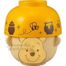 〔小禮堂〕迪士尼 小熊維尼 日製陶瓷湯茶碗組《2入.黃.大臉》飯碗.湯碗 4942423-24710