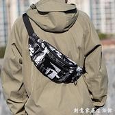 新款時尚潮流單肩包斜背包小背包男士多功能腰包運動胸包學生包包 創意家居