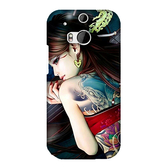 htc New One ( M8 ) M8x 手機殼 軟殼 保護套 刺青女孩