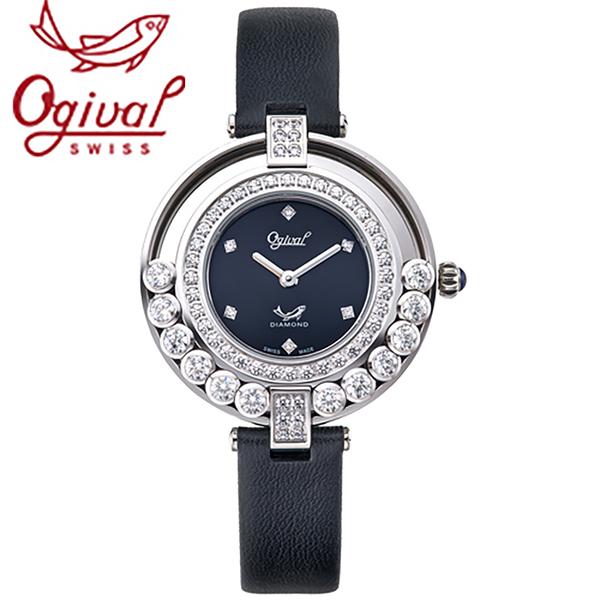 Ogival 愛其華流星系列-流光瀲灩珠寶錶-黑 380-45.1DLW